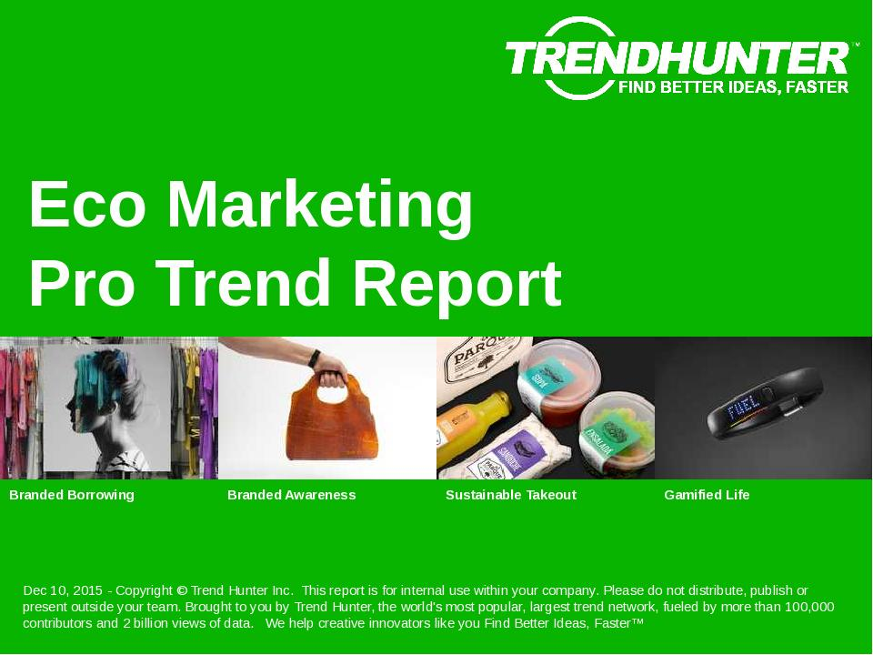 Eco Marketing Trend Report Research