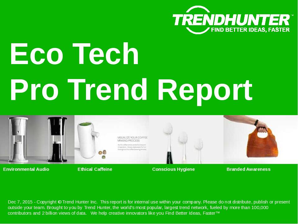 Eco Tech Trend Report Research