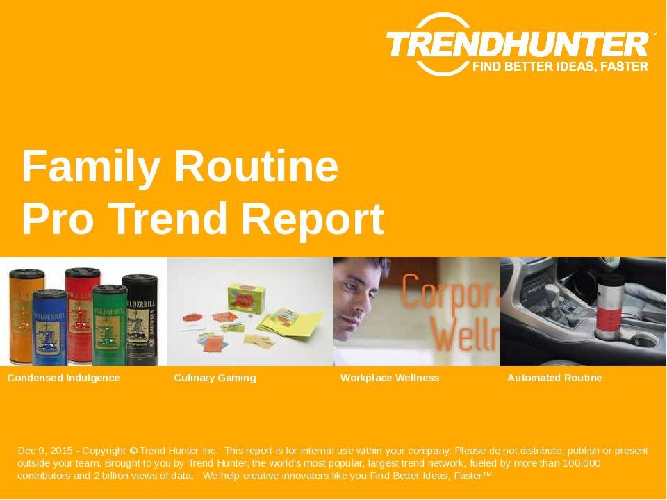 Family Routine Trend Report Research