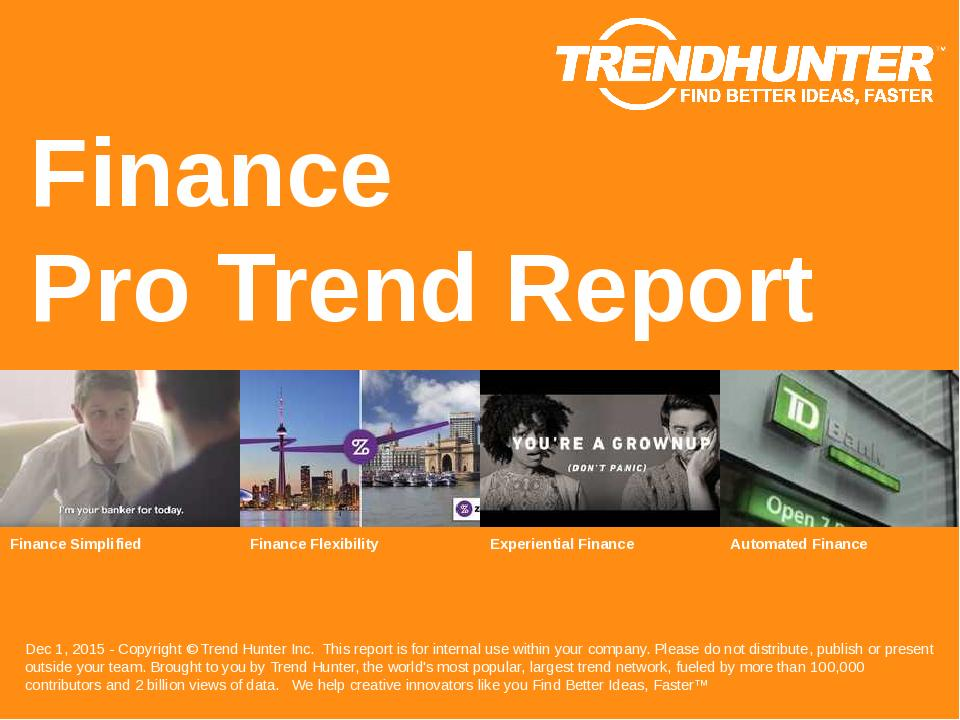 Finance Trend Report Research