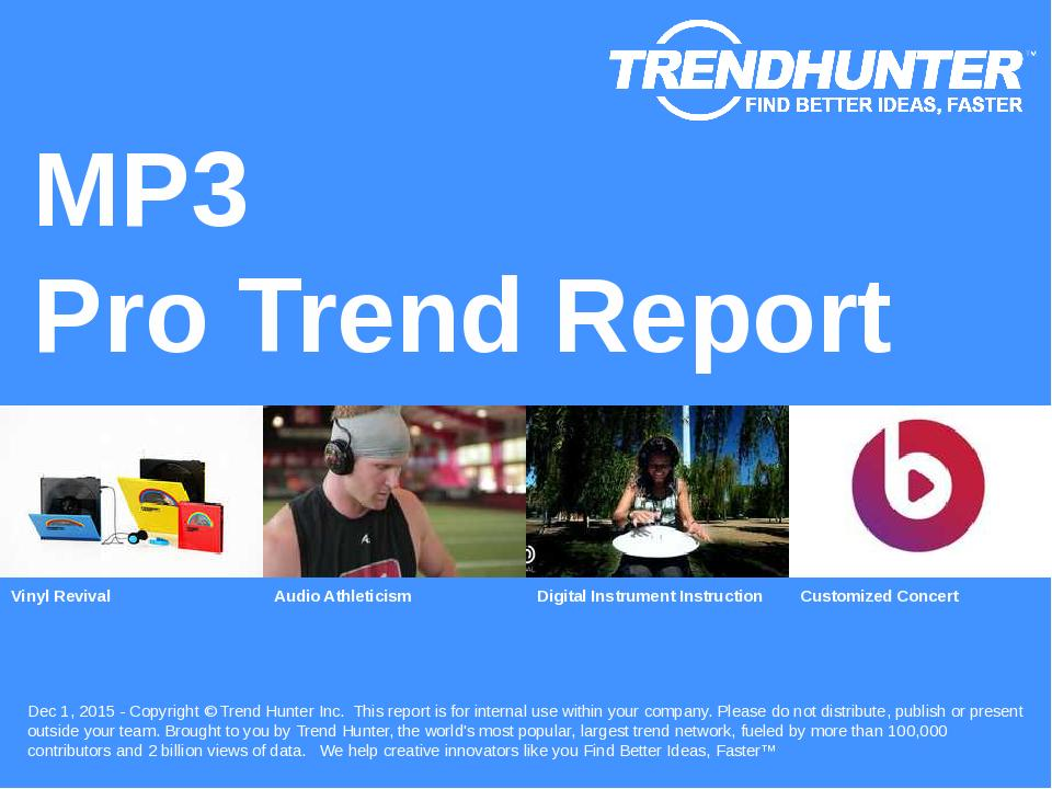 MP3 Trend Report Research