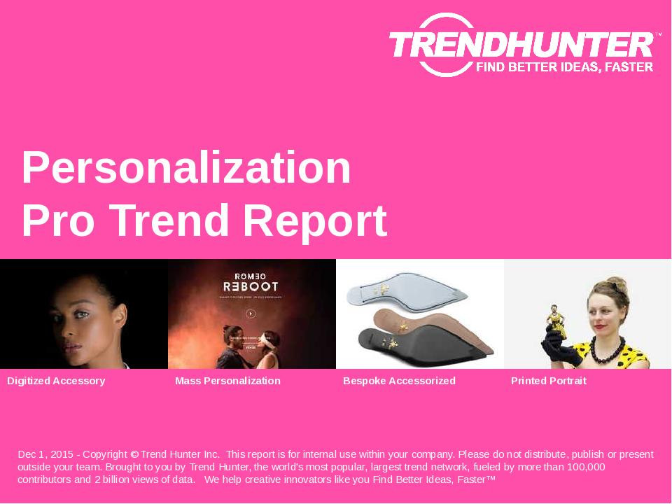 Personalization Trend Report Research