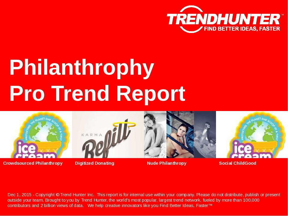 Philanthrophy Trend Report Research