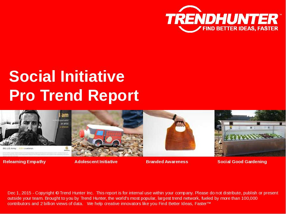 Social Initiative Trend Report Research