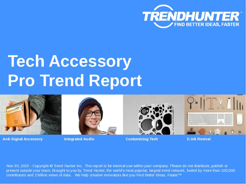 Tech Accessory Trend Report Research