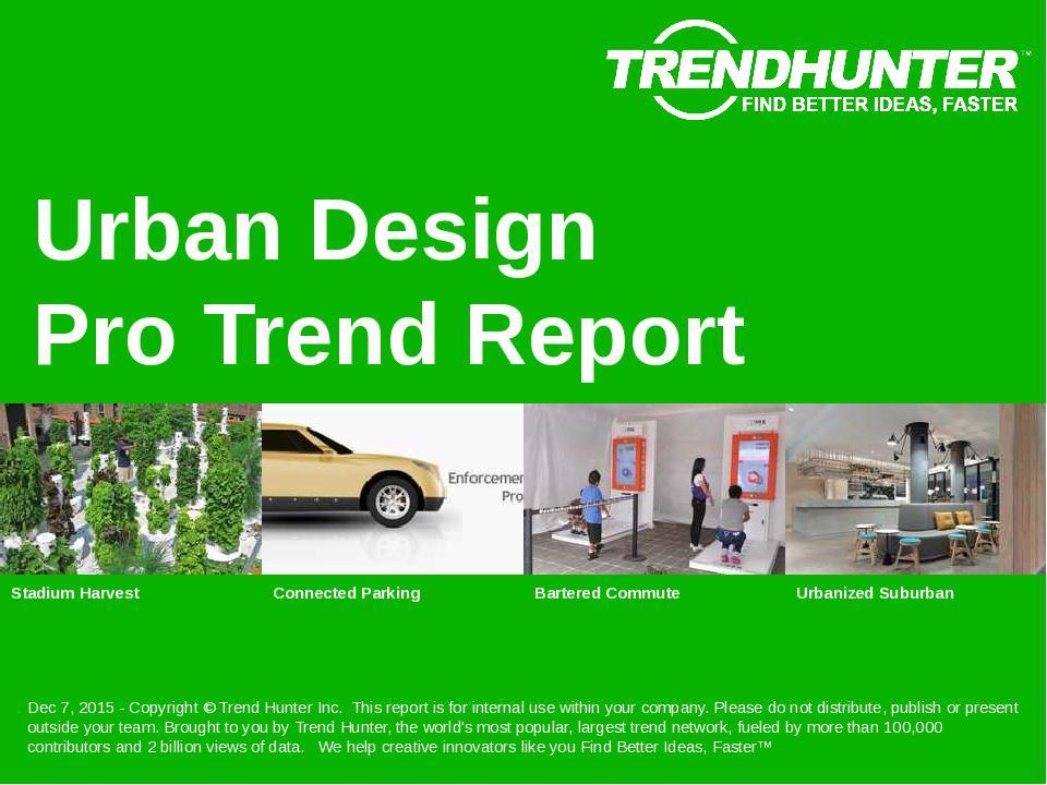 Urban Design Trend Report Research