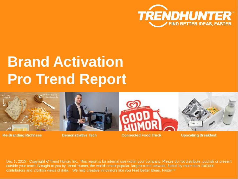 Brand Activation Trend Report Research