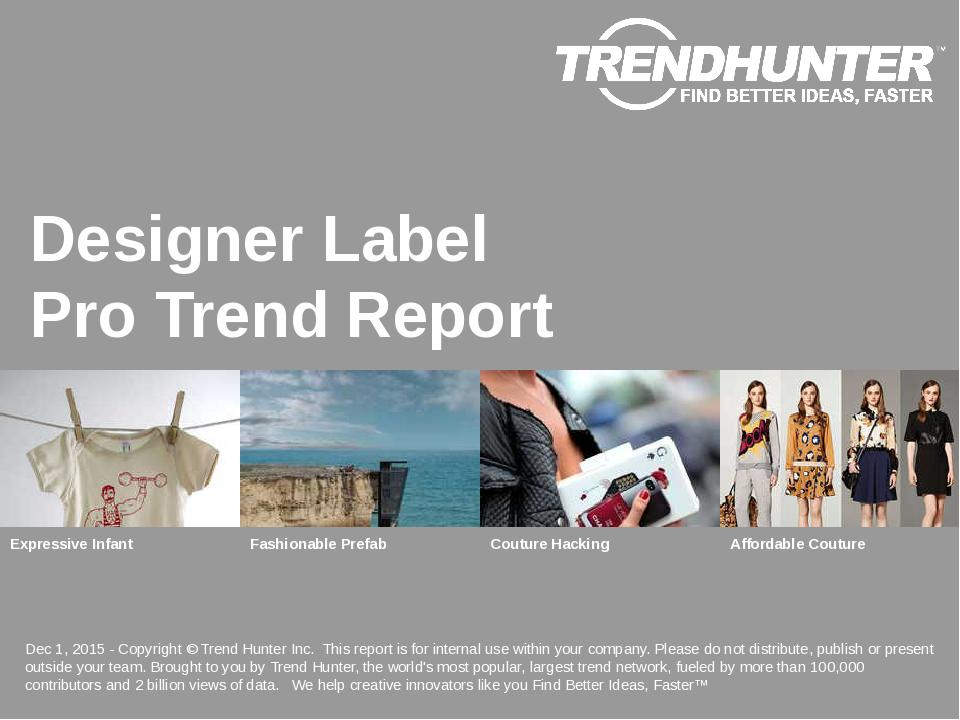 Designer Label Trend Report Research