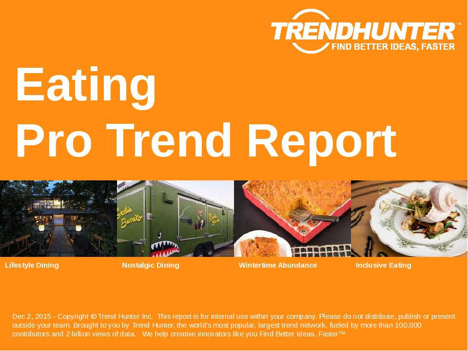 Eating Trend Report Research