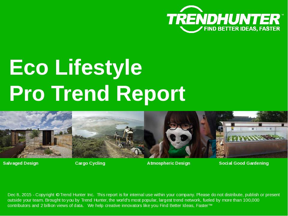 Eco Lifestyle Trend Report Research