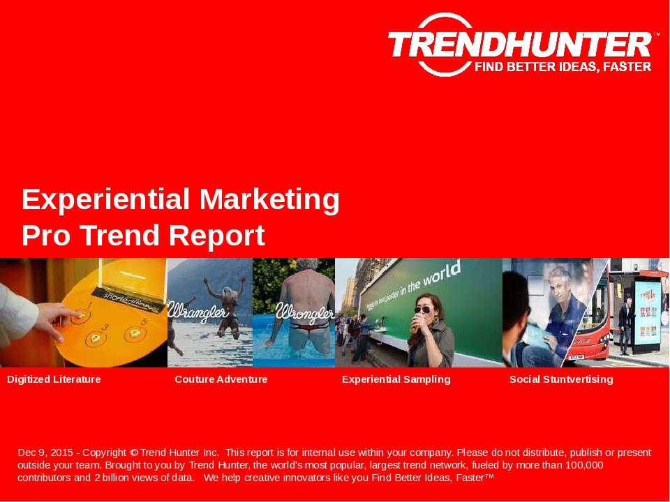Experiential Marketing Trend Report Research