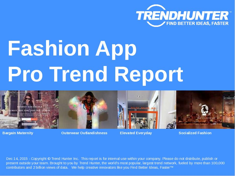 Fashion App Trend Report Research
