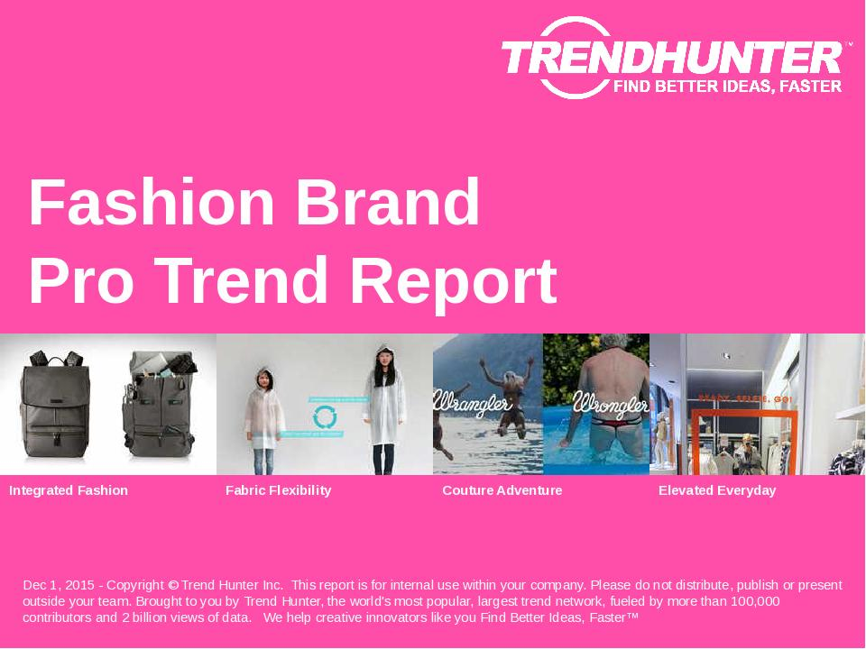 Fashion Brand Trend Report Research