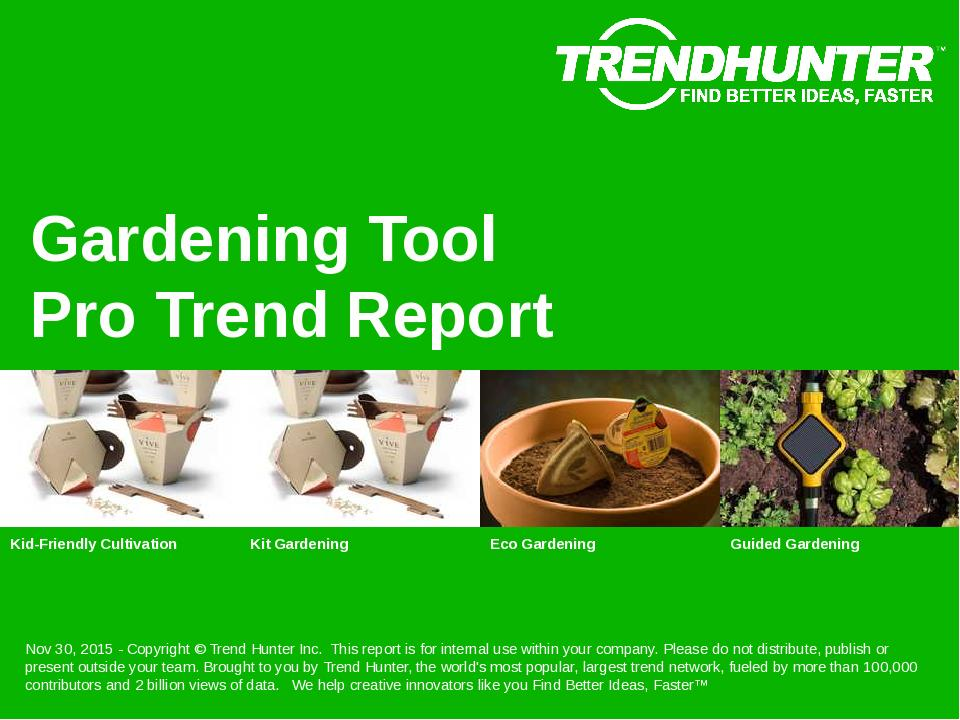 Gardening Tool Trend Report Research