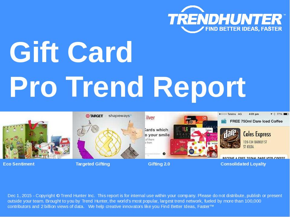 Gift Card Trend Report Research