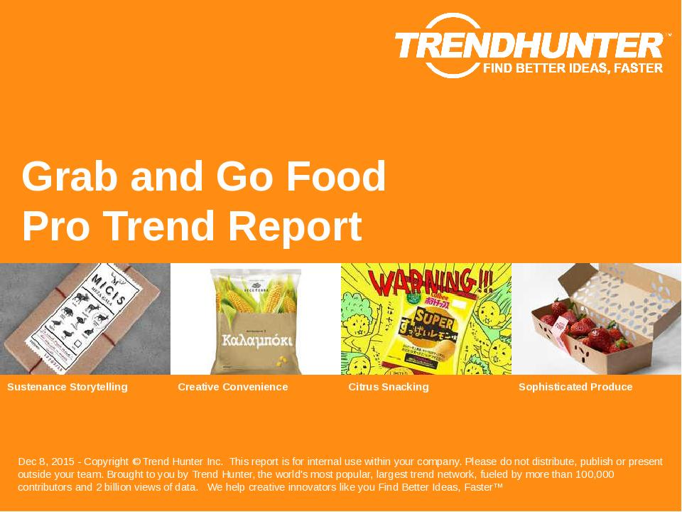 Grab and Go Food Trend Report Research