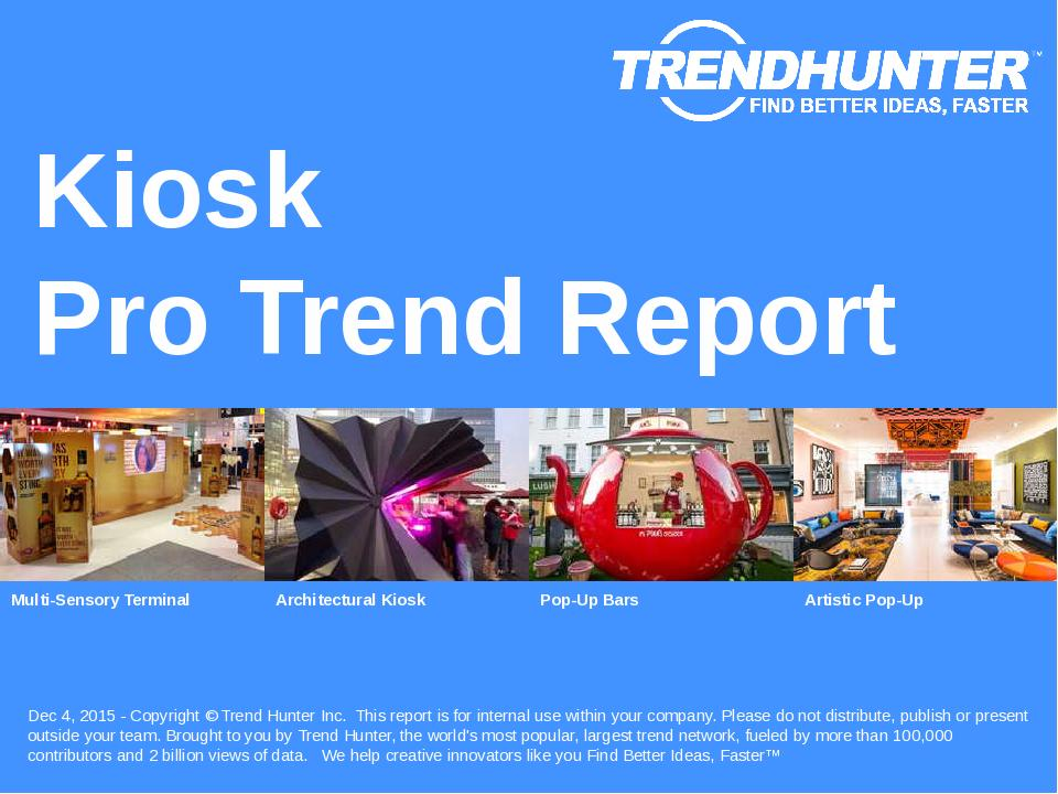 Kiosk Trend Report Research