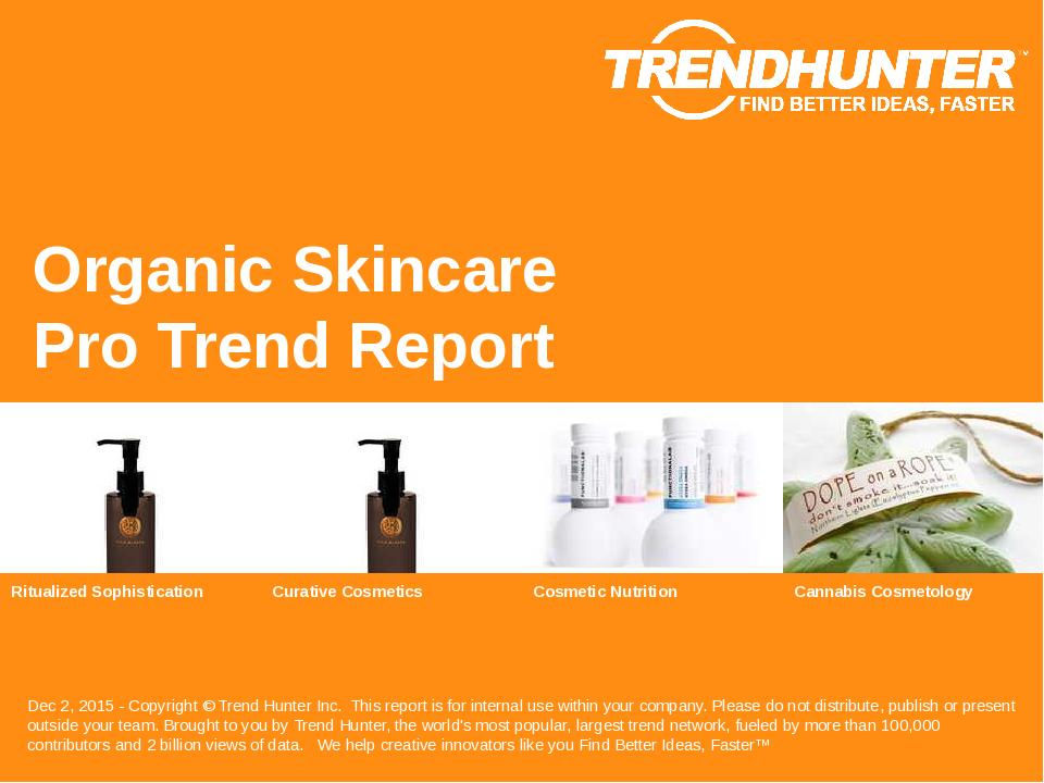 Organic Skincare Trend Report Research