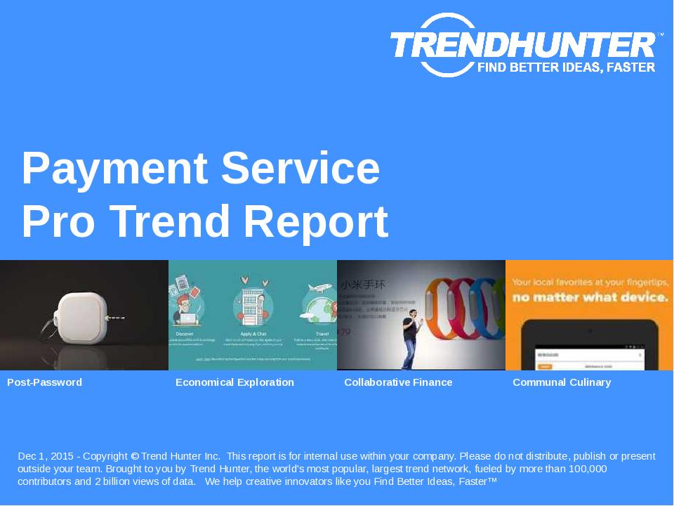 Payment Service Trend Report Research