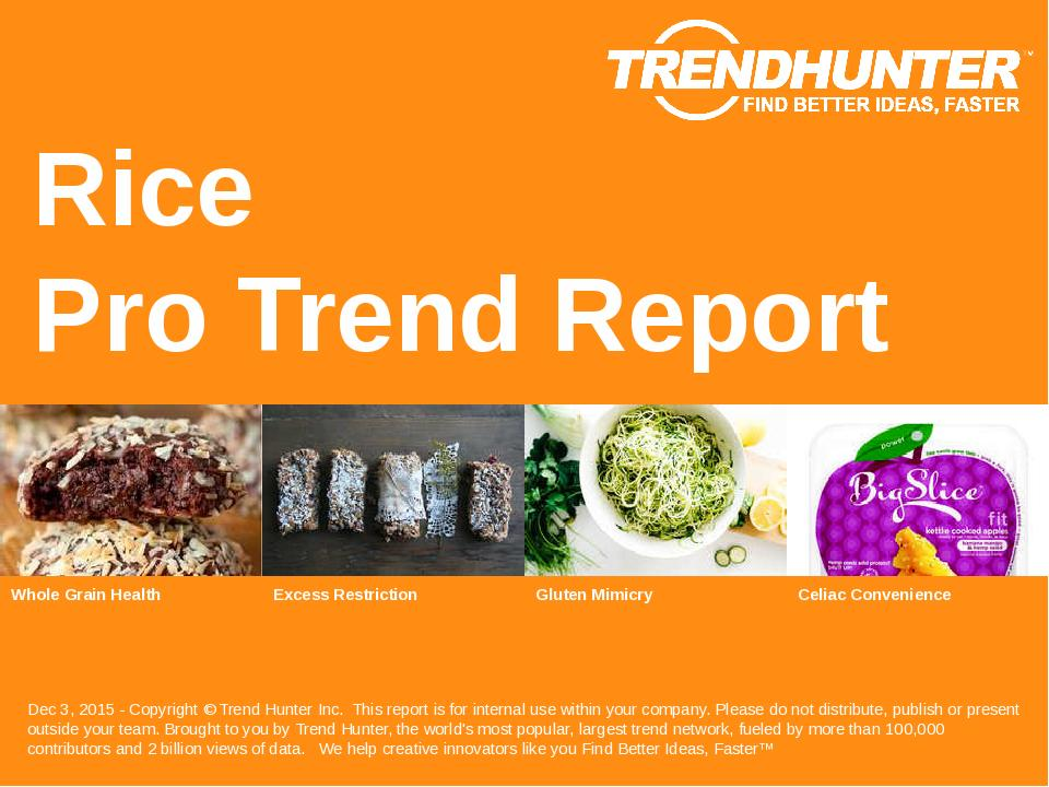 Rice Trend Report Research