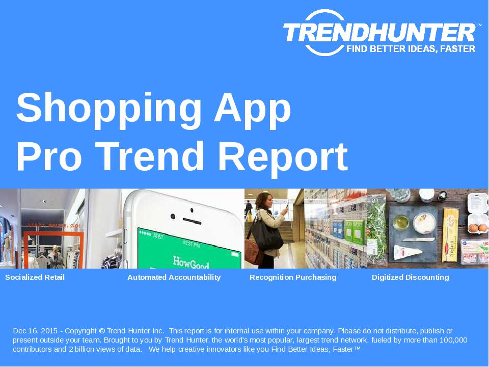 Shopping App Trend Report Research
