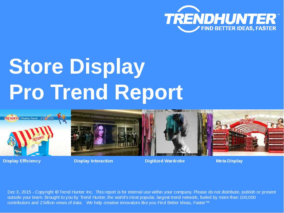 Store Display Trend Report Research