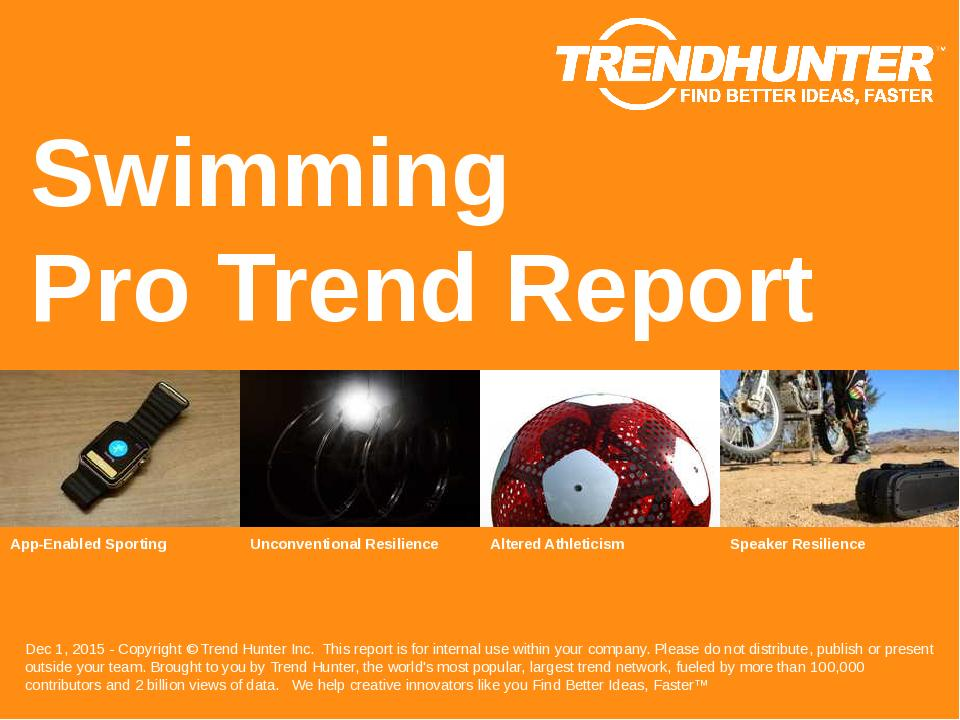 Swimming Trend Report Research