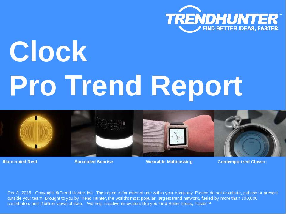 Clock Trend Report Research