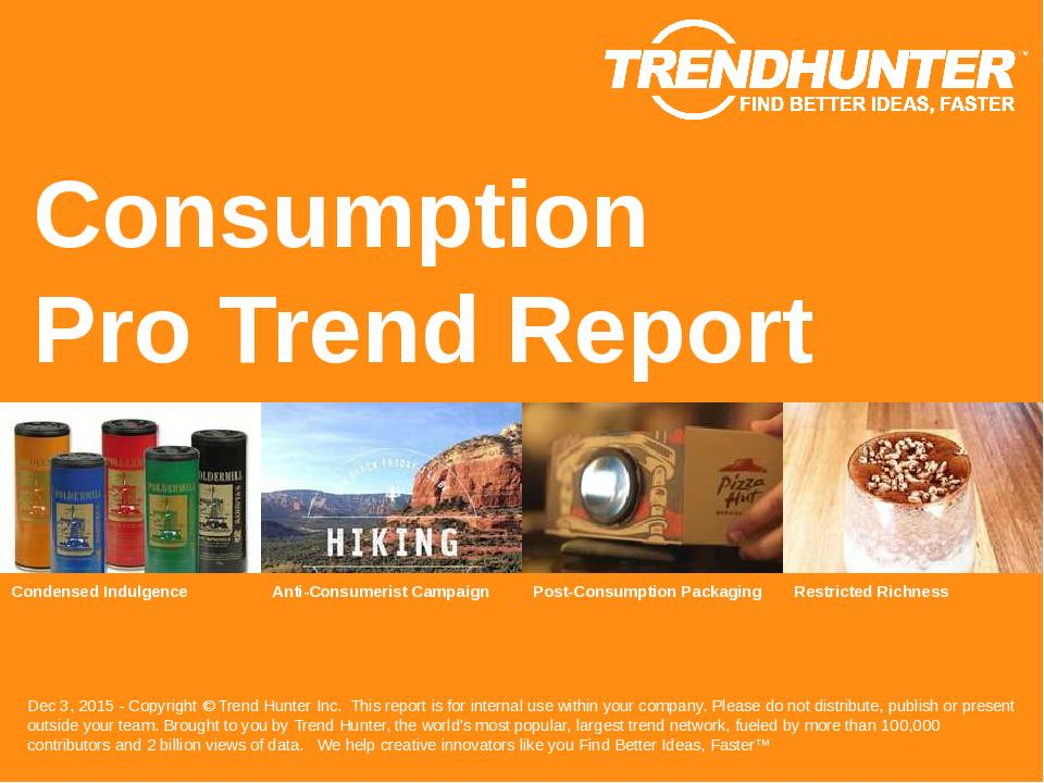 Consumption Trend Report Research