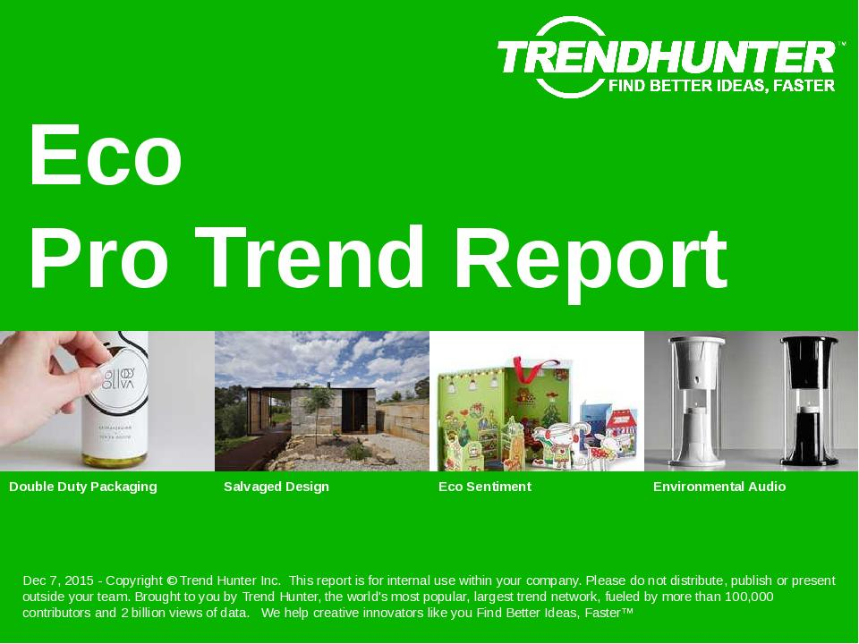 Eco Trend Report Research