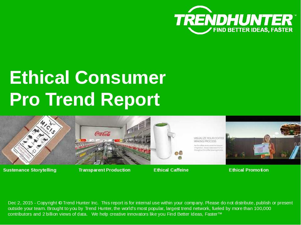 Ethical Consumer Trend Report Research