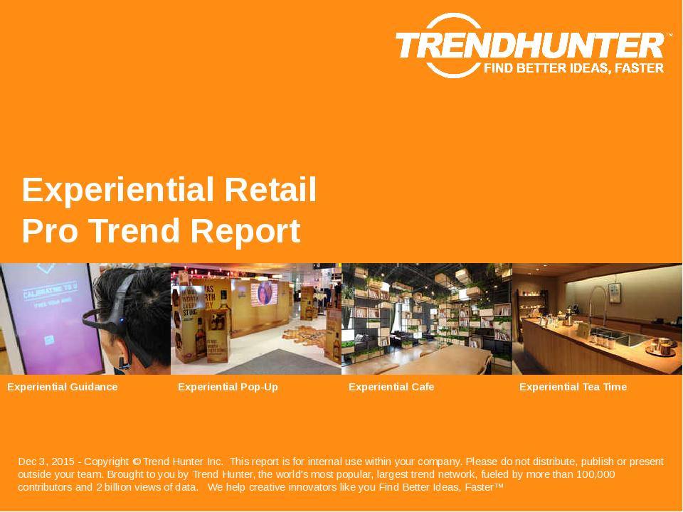 Experiential Retail Trend Report Research