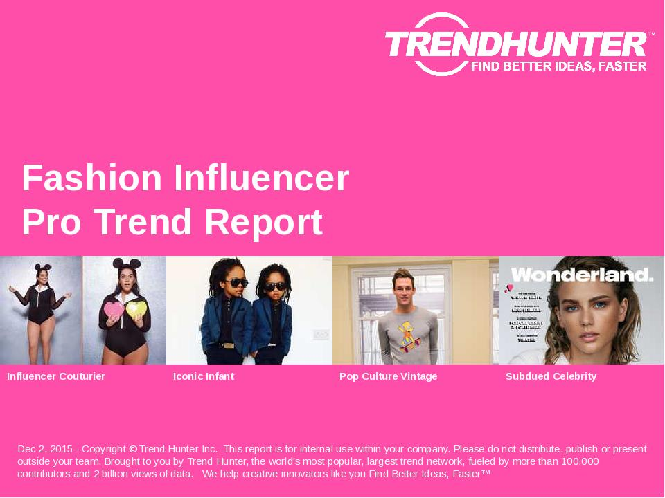 Fashion Influencer Trend Report Research