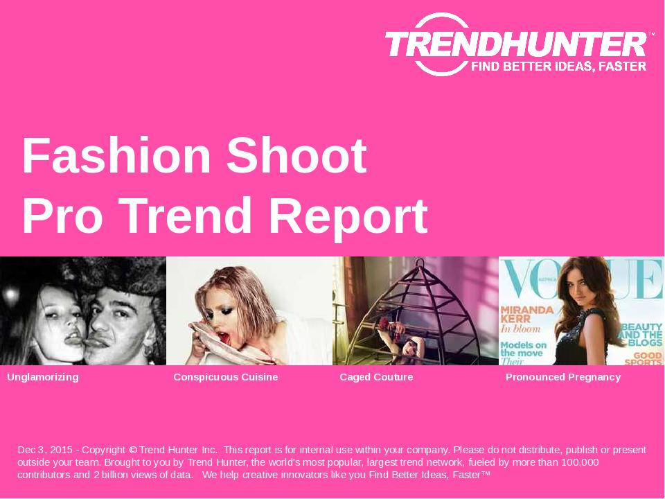 Fashion Shoot Trend Report Research