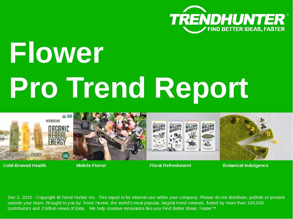 Flower Trend Report Research