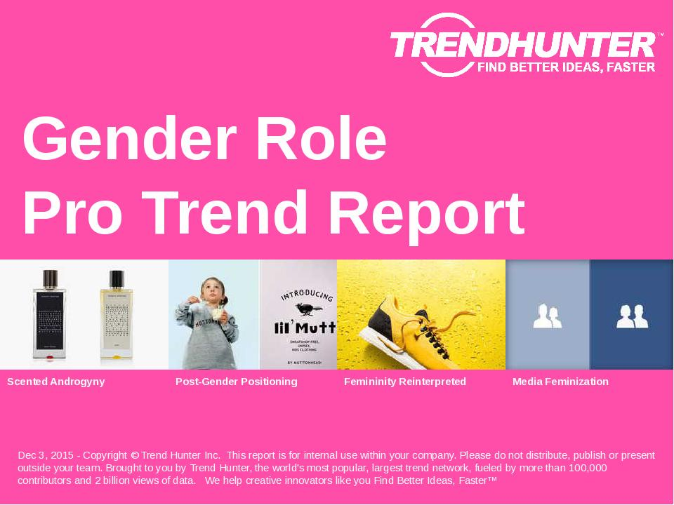 Gender Role Trend Report Research