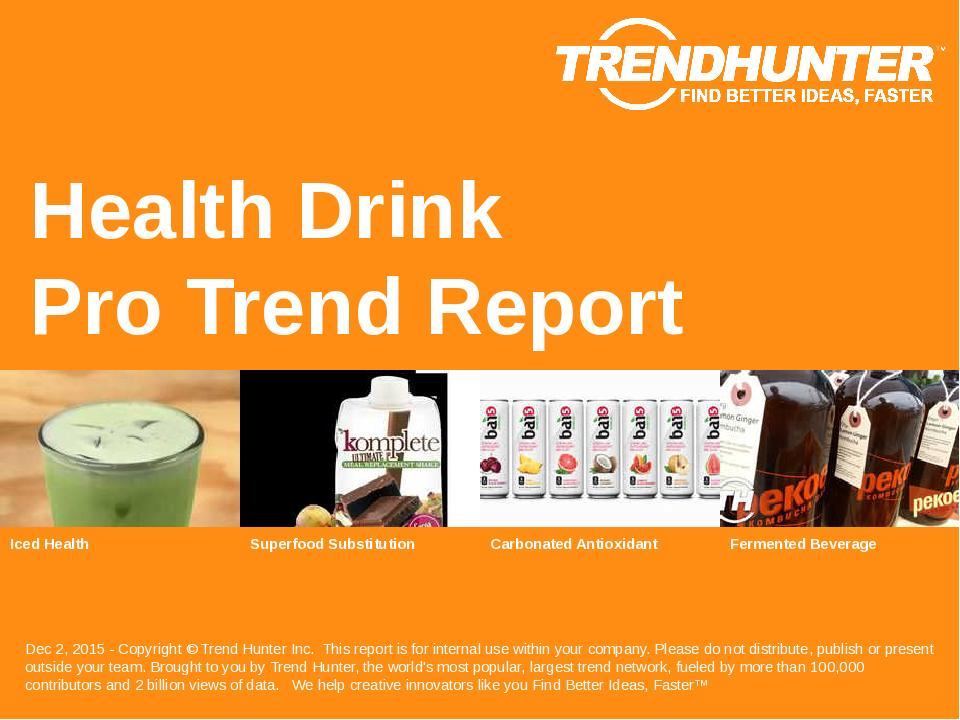 Health Drink Trend Report Research
