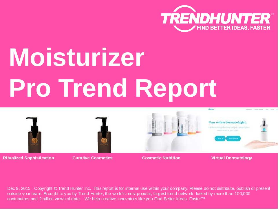 Moisturizer Trend Report Research