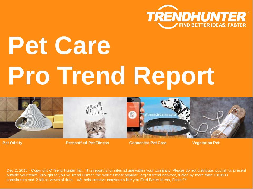Pet Care Trend Report Research
