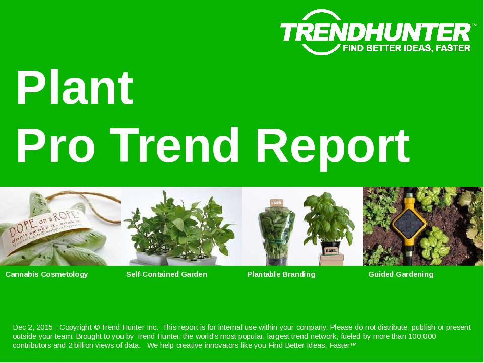 Plant Trend Report Research