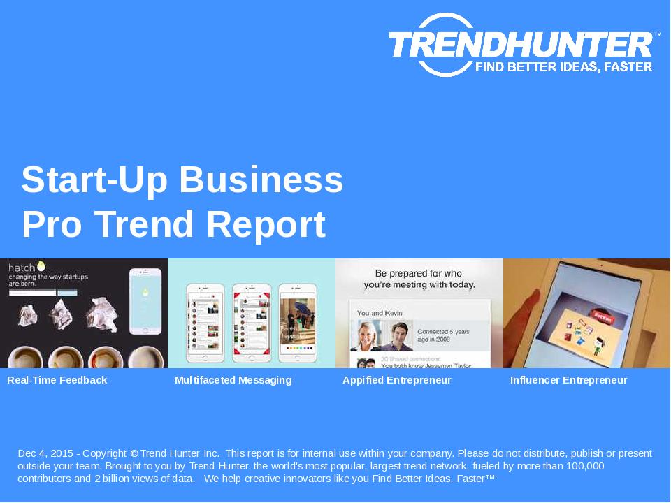 Start-Up Business Trend Report Research