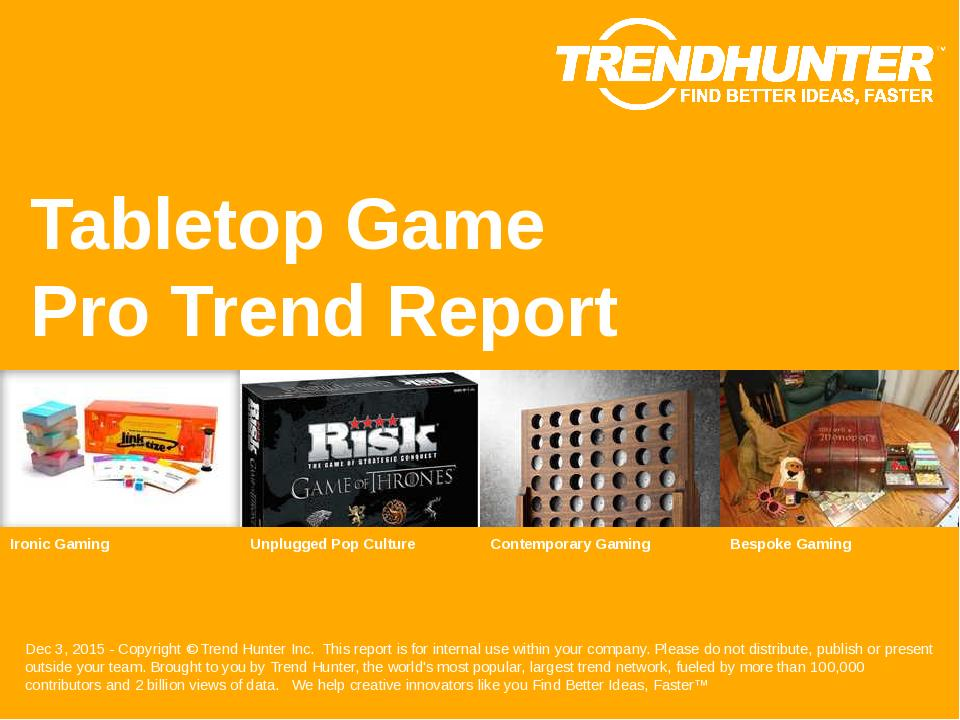 Tabletop Game Trend Report Research
