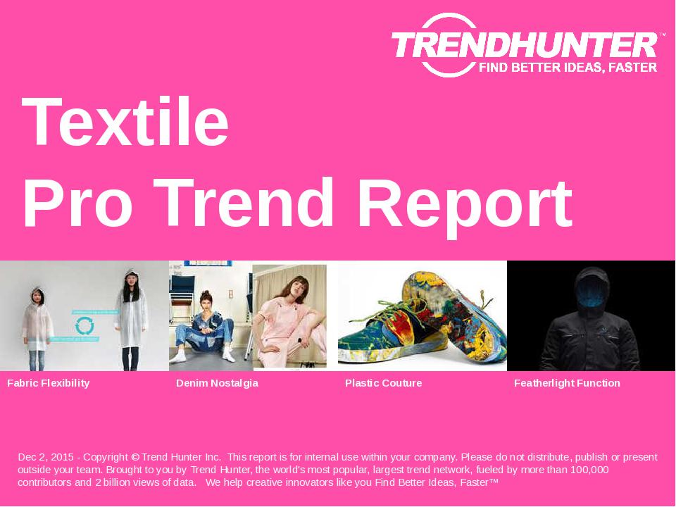 Textile Trend Report Research