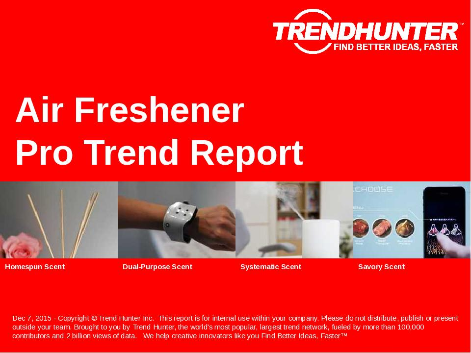 Air Freshener Trend Report Research