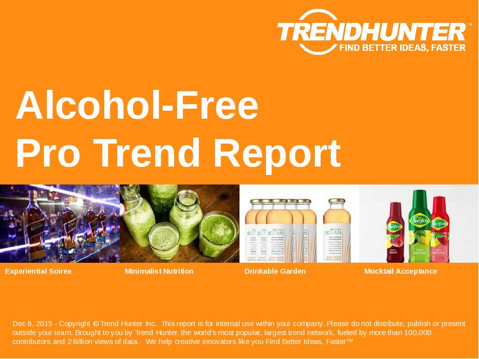 Alcohol-Free Trend Report Research