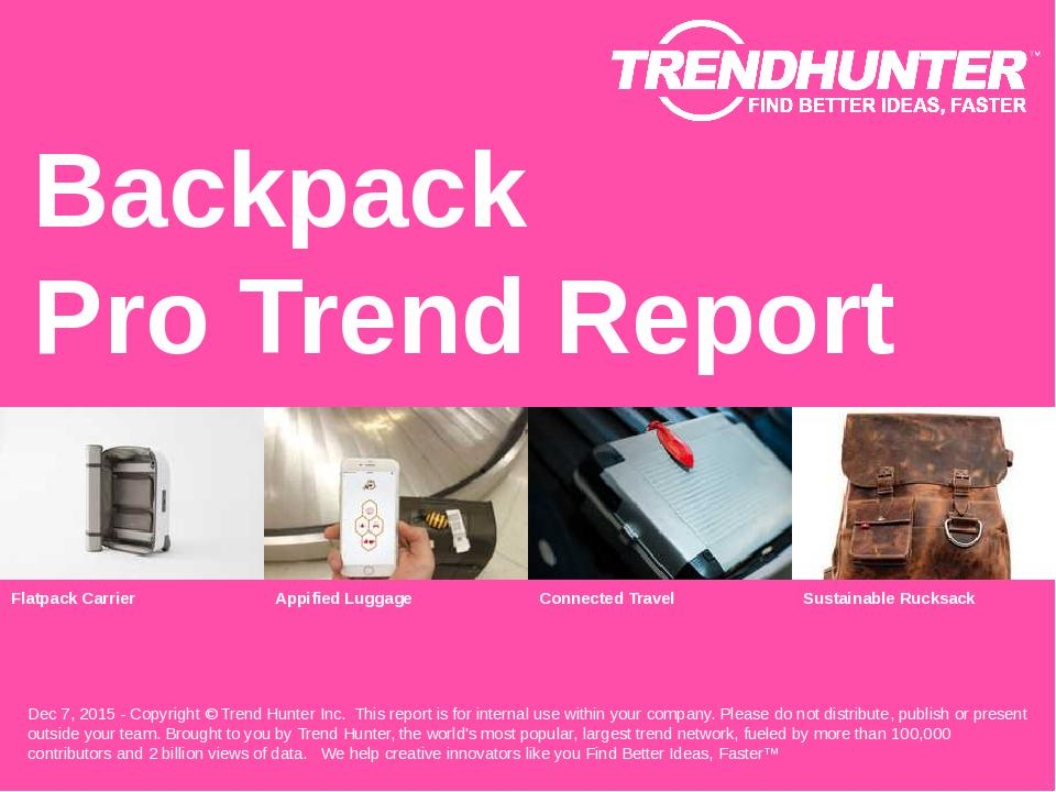 Backpack Trend Report Research