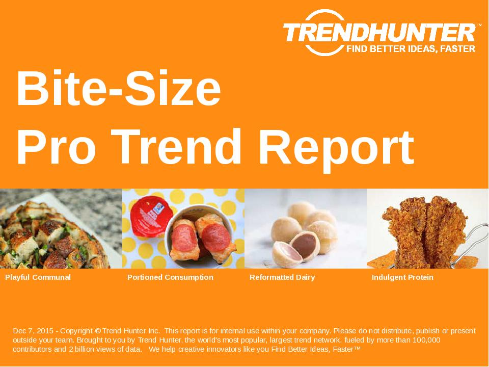 Bite-Size Trend Report Research
