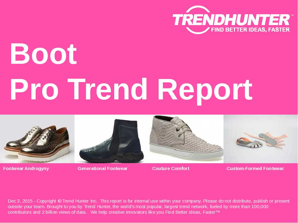 Boot Trend Report Research
