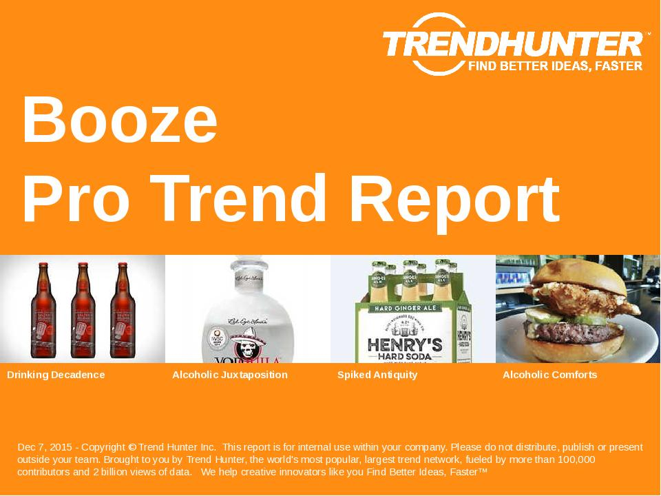 Booze Trend Report Research
