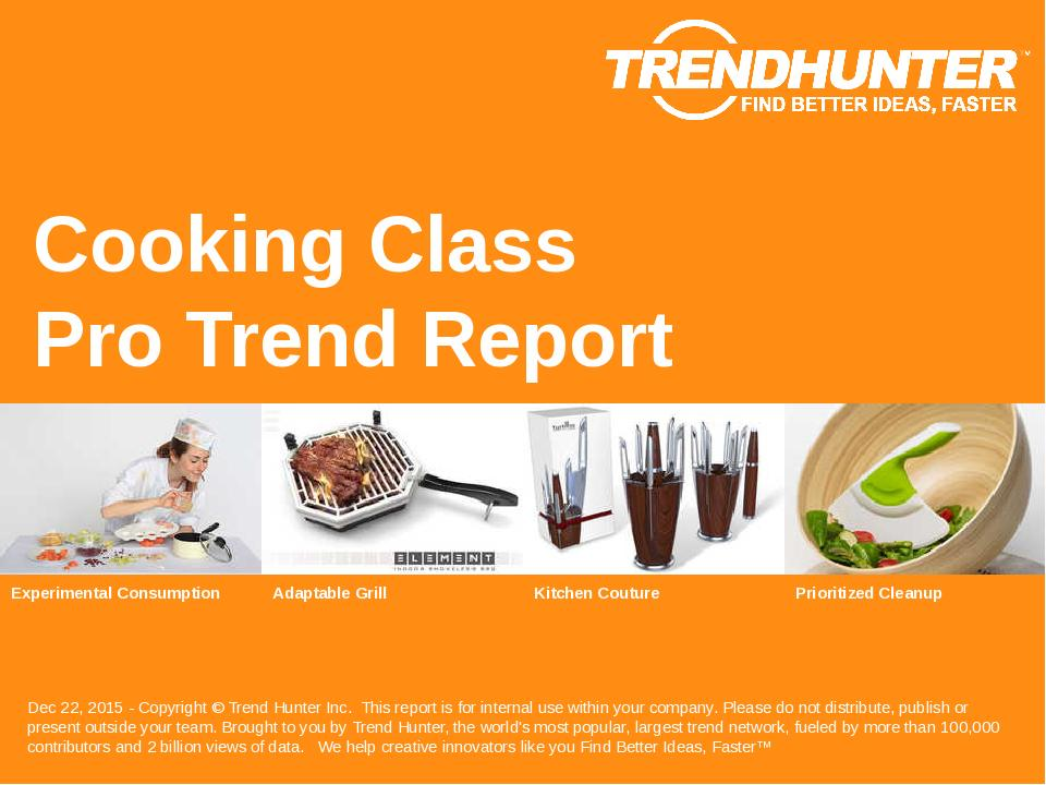 Cooking Class Trend Report Research